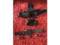 GoPro Accessories inc Headmount, wrist mount, helmut mount, bluetooth remote