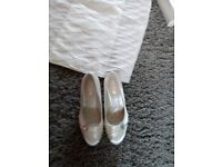 Mother Of The Bride Dress and Jacket size 14, Handbag, Fascinator and Shoes size 5