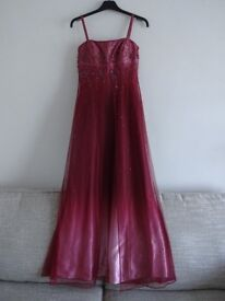 Pink ombre effect ball gown / prom dress / evening dress - sparkle and embroidered detail