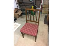 3 Stag dining chairs