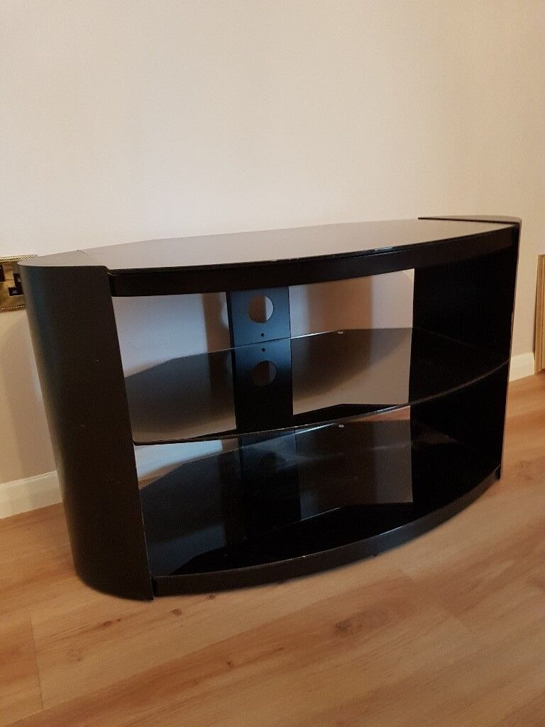 Black Smoked Glass Tv Stand In South Wootton Norfolk Gumtree