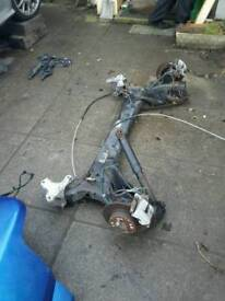 Renault megane convertible rear back beam complete 2005