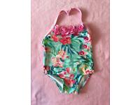 Girls monsoon swimming costume size 6-12 months
