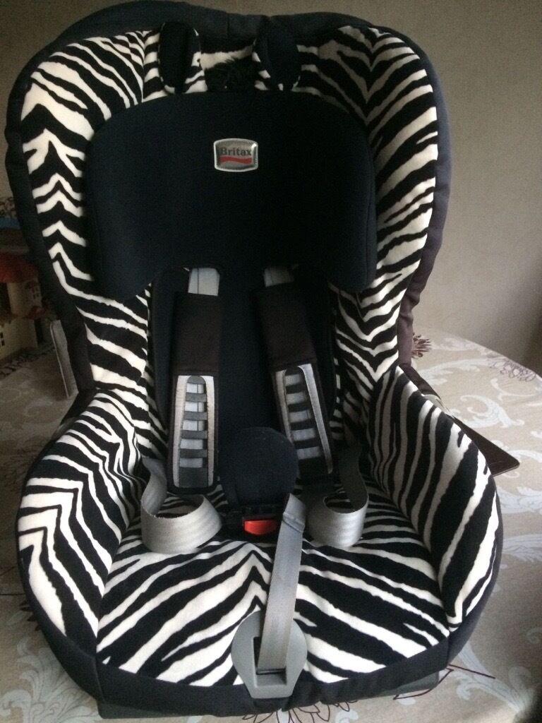 Britax Zebra Print Car Seat