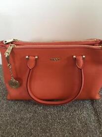 Orange DKNY Hand Bag