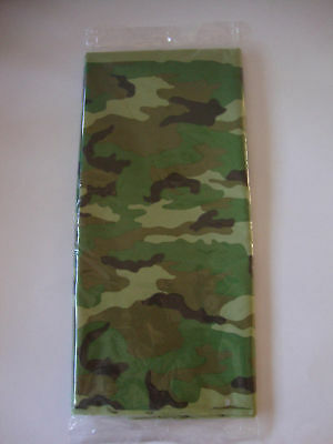 Camouflage Table Cover Plastic (Military Camo | Camouflage | Army Plastic Party Tablecover | Tablecloth)
