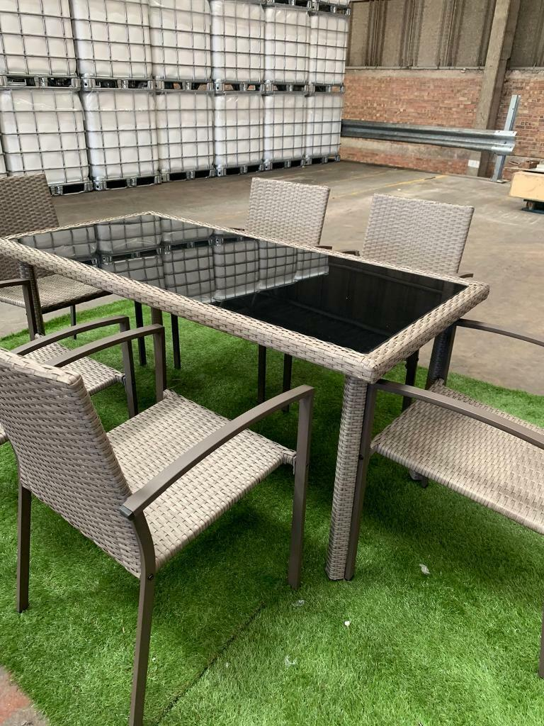 Brand New Rattan Table And Chairs - Garden Furniture Set ...