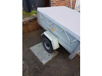 ERDE 122 TRAILER WITH NEW WHEEL BEARINGS AND NEW COVER £180 NO OFFERS 2013 MODEL
