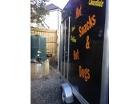 Versatile catering hot dog, coffee, hot snack trailer