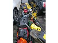 Lots of garden tools- petrol,Electric