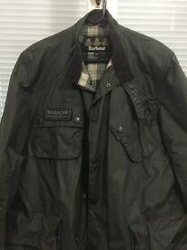 Barbour international jacket black mint condition XL slim fit