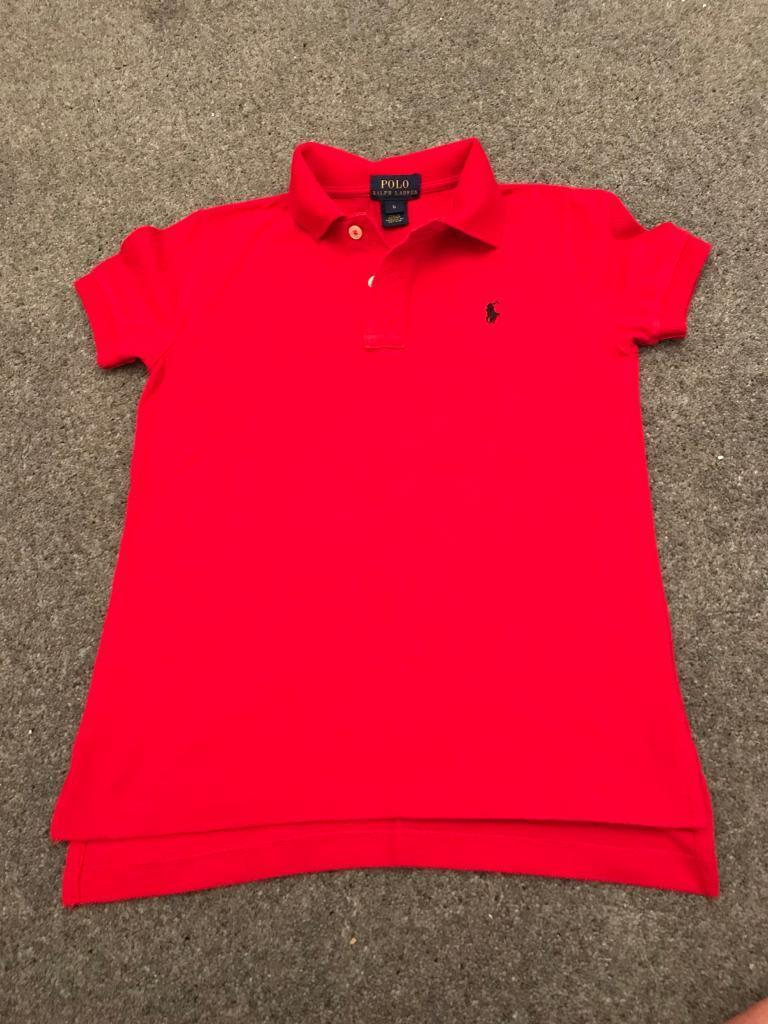 Red Ralph Lauren Polo Shirt For Toddlers Rldm