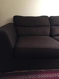 Beautiful Brown Two Seater Sofa | Fabric