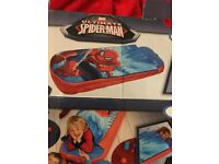 childrens spiderman sleeping bag only slepted in once very clean throughout