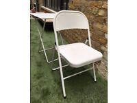 Habitat white metal table & Macadam chair