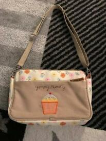 Yummy Mummy Pink Lining small changing bag. Excellent Condition.