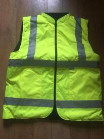 Arco hi vis vest with fleece inside x large waterproof