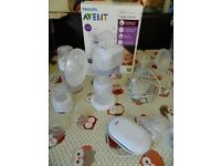 Avent electric breast pump and accessories