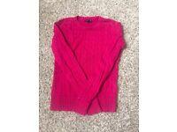Pink Tommy Hilfiger jumper, size S, for sale