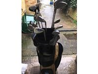 set golf clubs and trolley £50 contact 07449831119