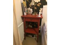2 Bedside tables Ikea Hemnes Red