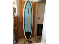 SURFBOARD - 68NSP - COMPLETE PACKAGE WITH NEW BOARD, FOOT LEASH & TRANSPORT BAG!!