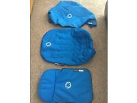 Bugaboo Cameleon 3 piece blue fabric set. In brilliant condition. Will fit all cameleon pram sets.