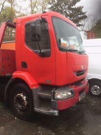 18 ton Renault Midlum Recovery, Slide and tilt with spec lift