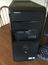 Dell Vostro 430 computer, monitor & keyboard.