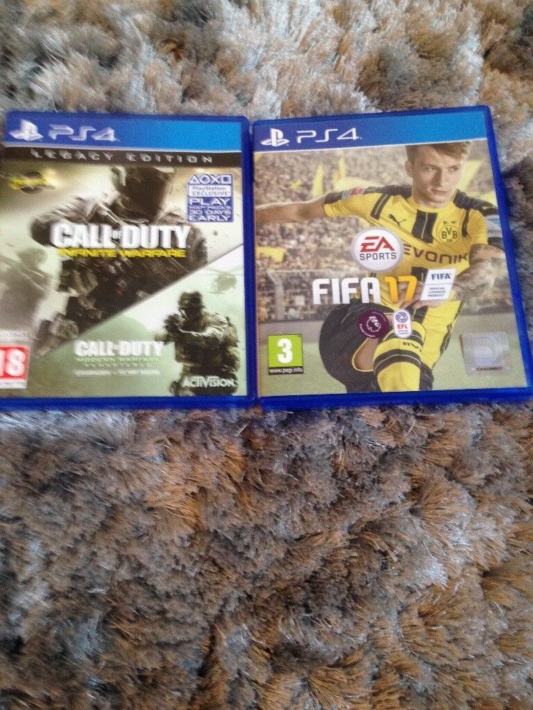 Fifa 17 and Call of duty for ps4