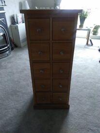 Oak Cd/DVD Storage Unit