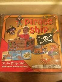 Pirate ship book - builds into a ship - NEW