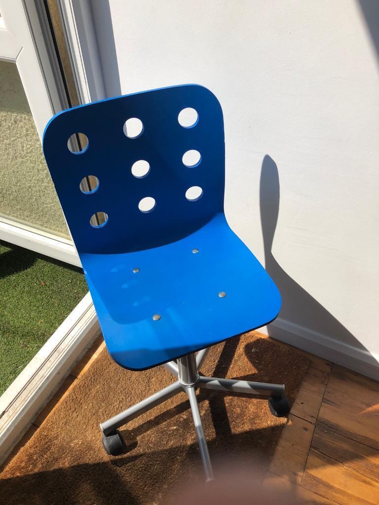 Amazing Ikea Jules Kids Desk Chair Blue Swivel Adjustble In Bishopston Bristol Gumtree Machost Co Dining Chair Design Ideas Machostcouk