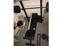 Addidas Weight Bench Set Inc Bar Dumbbells and 42,5kg in Weights
