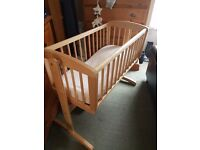 Mothercare wooden crib, excellent condition