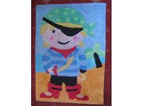 Child's Pirate bedroom rug