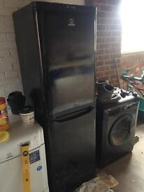 Idesit Black fridge freezer