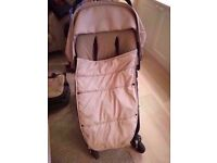 Used Bugaboo Cameleon in Beige with buggy, bassinet and covers