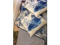 Chinese style bedspread (never used) with pillowcases and cushions