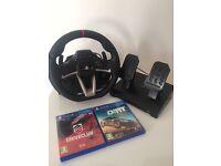 Brand new Hori RWA Apex racing steering wheel with x2 new games