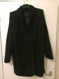 French connection black coat