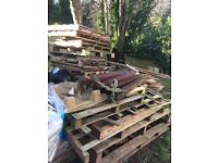 Free pallets /wood and Roof tiles