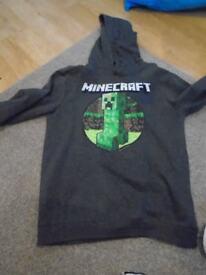Boys Minecraft hoody 11-12 excellent condition