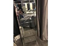 Mirror tall drawers and bedside cabinets full set