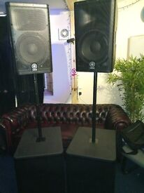 Yamaha PA speakers, active speakers and subs **BARGAIN IMMACULATE CONDITION**