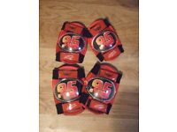 Cars/Lightning McQueen Knee and Elbow pads for scooting/skateboarding