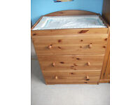 Baby Changing Unit/ Chest of drawers