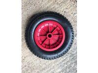 Plastic wheel & tyre, 15 inch dia.