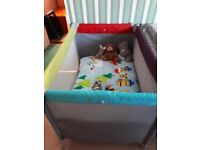 Travel cot very good condition