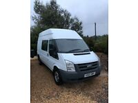 2011 , Ford , Transit , 2400cc , crew van , 9 seater , long wheel base , high top , 1 owner , fsh